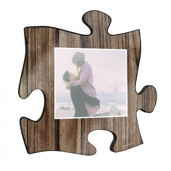 "Your life is beautiful, and this unique personalized 12"" x 12"" puzzle piece wall art is a wonderful way to show your favorite photo of a cherished memory!"