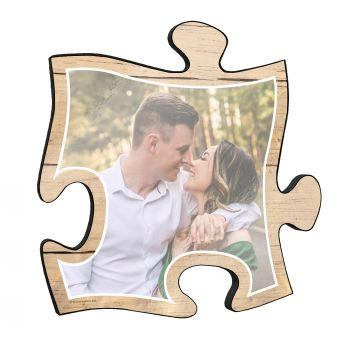 "We all deserve a little beach vacation every now and then! Reminisce on your favorite beach trips with this 12"" x 12"" puzzle piece wall art."