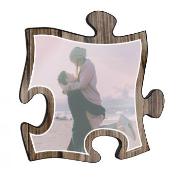 Your life is beautiful and this unique personalized puzzle piece wall art is a wonderful way to show your favorite photo of a cherished memory!