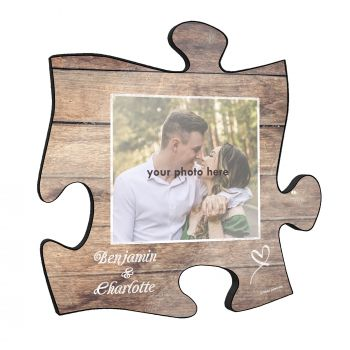 "Your relationship is beautiful, and this unique 12"" x 12"" personalized wall art is a wonderful way to show your favorite photo of you and your partner!"