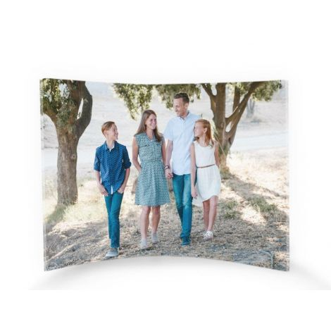 "Upload your personal photo for a customized 10"" x 7"" curved acrylic print."