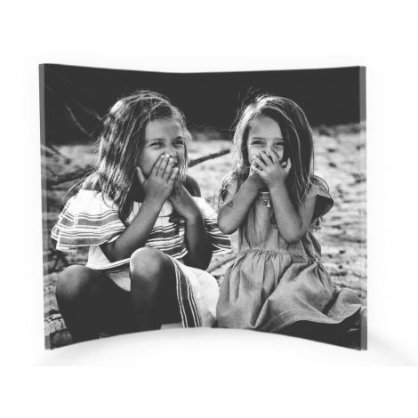 "Upload your personal photo for a customized 12"" x 10"" curved acrylic print."