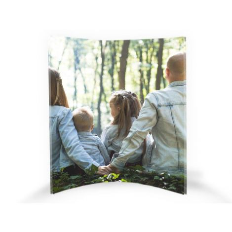 "Upload your personal photo to create a customized 8"" x 10"" curved acrylic print."