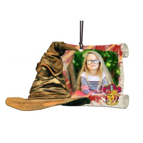 Harry Potter Gryffindor Sorting Hat curved acrylic decoration featuring a personalized image.