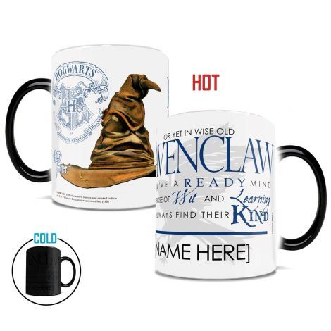 Show your Ravenclaw house pride with this unique Morphing Mug™ that features the magical sorting hat and part of the sorting ceremony song.