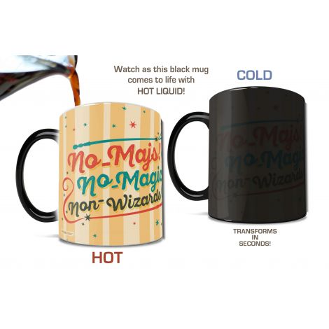 "Is your most magical asset your imagination? Personalize this with your name and enjoy the technology behind your ""No-Maj"" Morphing Mugs heat-changing mug as your name appears and disappears! The exterior of this officially licensed Fantastic Beasts and W"