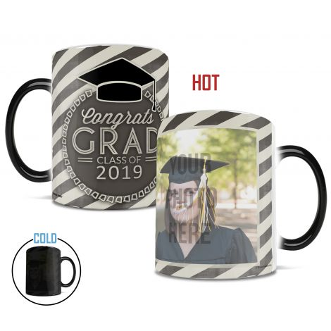 Graduation personalized Morphing Mugs heat-sensitive mug. Tell your favorite grad congrats by uploading their photo for a customized mug.