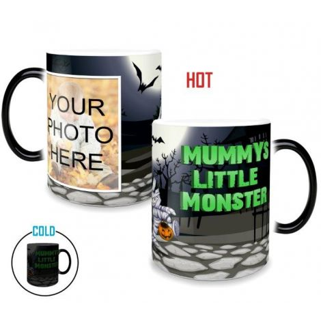 Show off Mummy's Little Monster with this Morphing Mugs heat-sensitive drinkware. Personalize with your own photo.