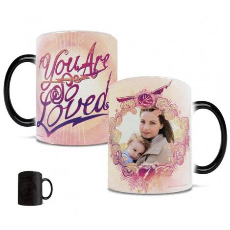 Harry Potter You Are Loved Morphing Mugs heat-sensitive drinkware. Personalize with a photo of your loved one.