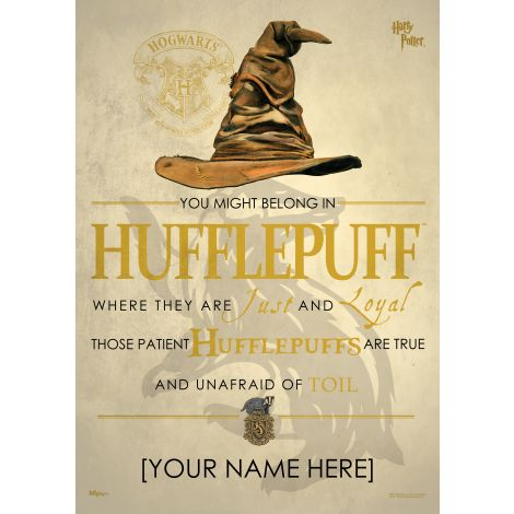 Pledge your allegiance to Hufflepuff™ by adding your name to this MightyPrint™ Wall Art featuring the Sorting Hat's poem for those sorted into the house of Cedric Diggory™, Nymphadora Tonks, and Newt Scamander™.