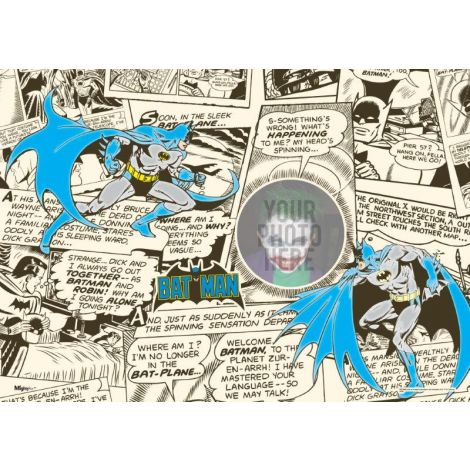 Batman Comic MightyPrint Wall Art. Put yourself next to the Dark Knight in this personalized print.