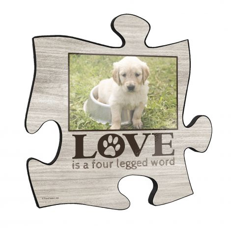 "Your fur babies mean the world to you and it is time to put them on a permanent display in your home. This 12"" x 12"" puzzle piece shaped wall art allows you to upload a favorite photo of your beloved pet."