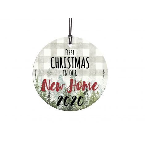 You finally found the home of your dreams! Celebrate the first year in your new home with this personalized hanging glass decoration. Add the year to remember the occasion forever.