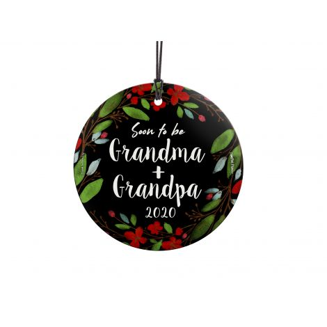 Get ready to start spoiling! Celebrate the newest addition to the family by showing that you're soon to be Grandma and Grandpa. Hang this glass ornament anywhere in your house in preparation to hold the newest bundle of joy. Add the year to make a keepsak