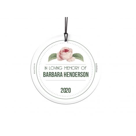 Losing a loved one is never easy. Now, you can remember them forever with this personalized hanging glass ornament. Add their name and year they left to make a keepsake that will last forever. Comes with hanging string for easy display.