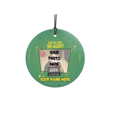 Are you on the run as a wanted wizard? Azkaban is looking for you in this hanging glass decoration. Personalize with your name and photo to show off how wanted you are in the wizarding world.