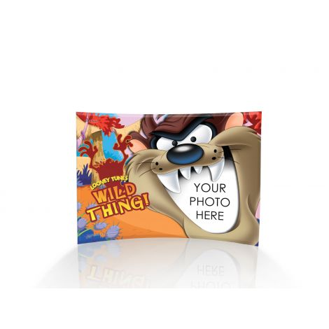 The Tasmanian Devil is hungry and looks like he might have you for a snack! Upload your photo in this curved glass print to show off your Wild Thing.