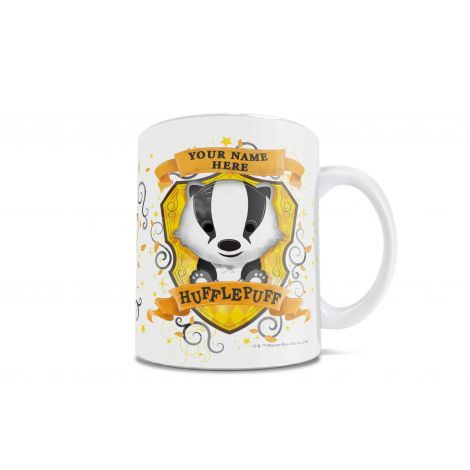 Hufflepuffs are loyal and patient. On this mug, they're also absolutely adorable.  Show your Hufflepuff pride in the cutest way possible, with an officially licensed Harry Potter mug.