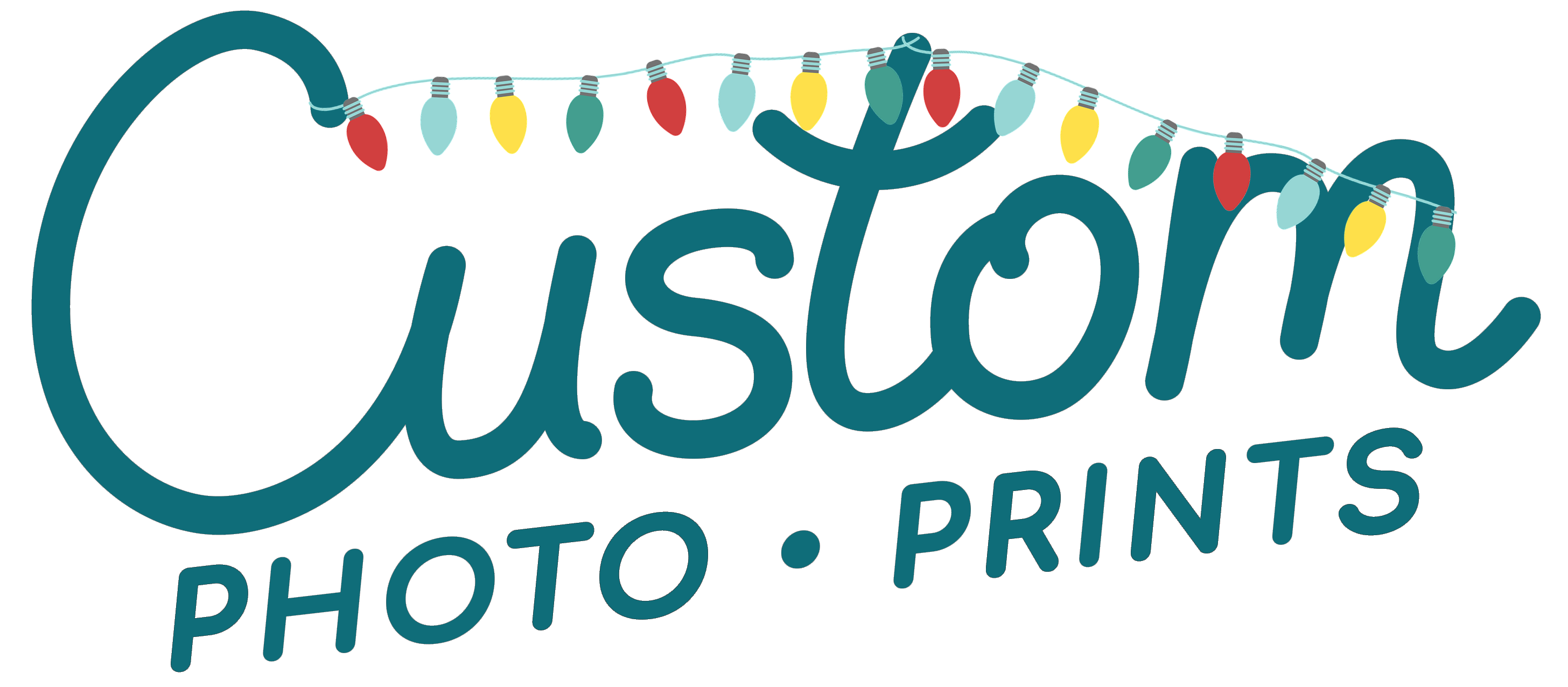 Teal Custom Photo Prints Logo